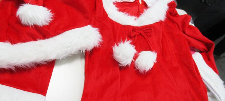 サンタ衣装の手入れ
